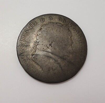 Estate Found King George III 1819 Large English Silver Coin