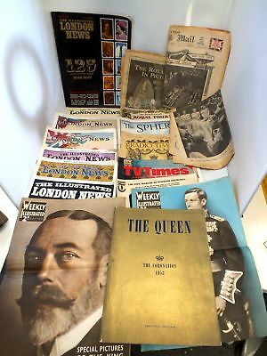 Vintage Collection 18X ROYAL FAMILY Magazines And Papers - B03