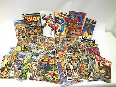 Huge Mixed Vintage Collection 125X GRAPHIC COMICS & BOOKS - W37