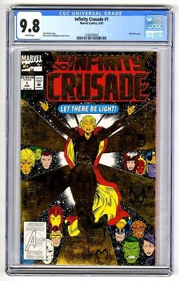 S884. INFINITY CRUSADE #1 Marvel CGC 9.8 NM/MT (1993) GOLD FOIL Cover, THANOS