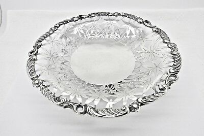"Antique Chinese Export Floral Pierced Footed 800 Silver Serving Dish,8""a Girodi"