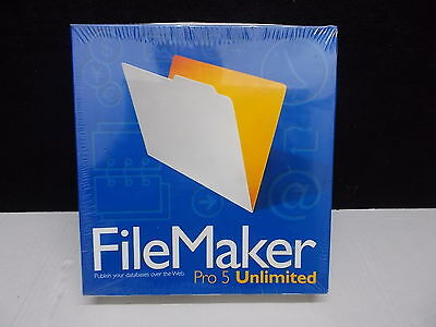 Filemaker pro 5 Unlimited for Windows and Macintosh