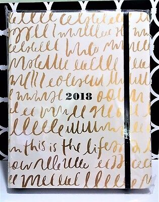 New 2018 Kate Spade 17-Month Medium Agenda W/sticker Sheet - This Is The Life