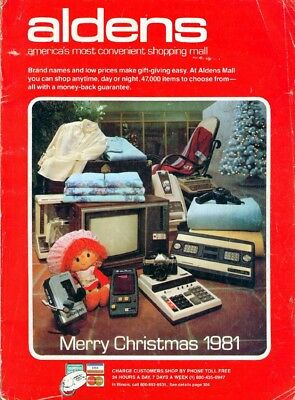 1981 ALDENS CHRISTMAS  Catalog WISHBOOK The Best of The 80's --Great Toys