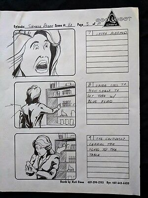 """SeaQuest 2032 Hand Drawn Production """"SIAMESE DREAM"""" Storyboard Page 3 of 8  #MS"""