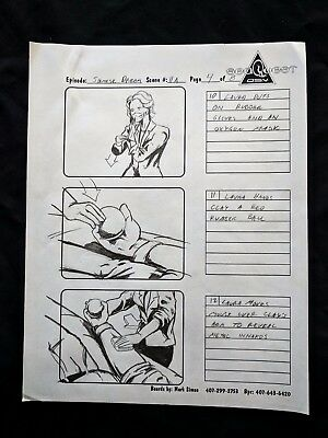 """SeaQuest 2032 Hand Drawn Production """"SIAMESE DREAM"""" Storyboard Page 4 of 8  #MS"""