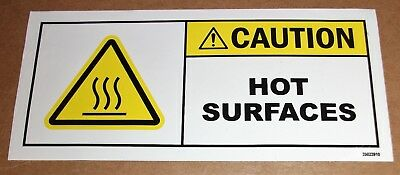 "Safety Label Warning Caution Hot Surfaces Adhesive Decal Sticker 5-1/2"" X 2-1/2"""