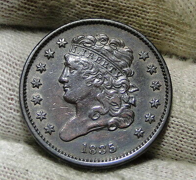 1835 Classic Head Half Cent - Nice Coin- Only 398,000 Minted (6028)