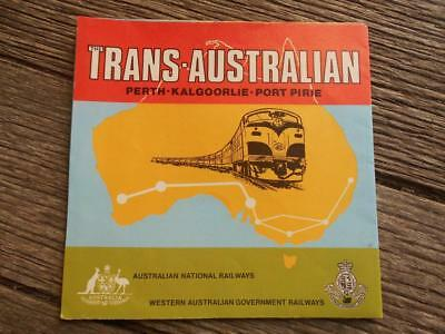 Vintage Trans Australia WA SA Perth Kalgoorlie Port Pirie National Railways WAGR