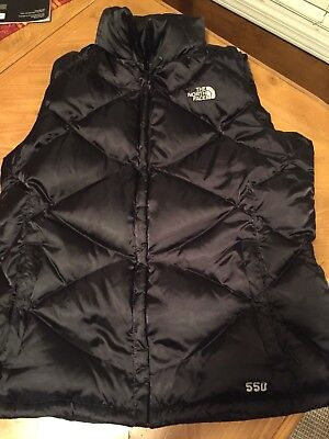 THE NORTH FACE Women's Black Quilted Puffer 550 Down Vest L Large