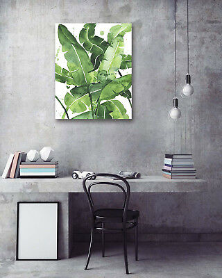 Modern Art Poster-Painted Banana Leaves Prints Wall Room Decor Canvas Painting