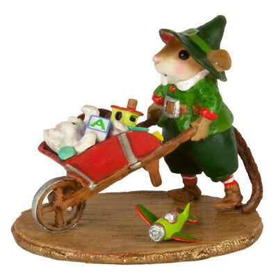 BARROW OF FUN by Wee Forest Folk, WFF# M-632, New Christmas Mouse 2017