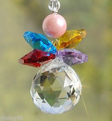 Crystal feng shui  ball hanging suncatcher rainbow christmas ornament colors