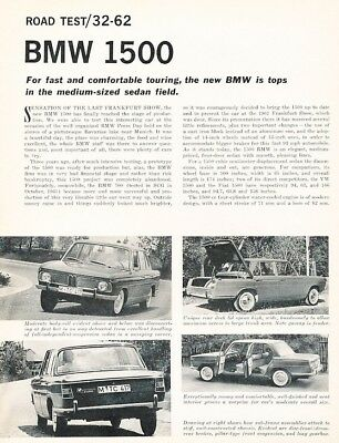1962 1963 BMW 1500 Sedan Prestige Brochure German wu2054 - $45.49 ...
