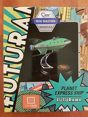 Loot Crate Futurama Planet Express Ship Model Q-Fig from QMX July 2016 lootcrate