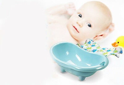 New Blue Infant Baby Kids Comfortable Sitting Or lying Safety Durable Bath Tub .