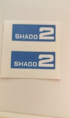 Dinky 353 Shado 2  Mobile paper stickers set only blue
