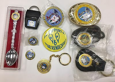 1976 Fur Rondy Collection Pin Bolo Tie Key Ring Charm Buckle & Button