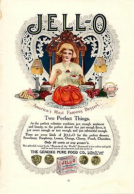 1912 Color Jello Valentines Day Ad