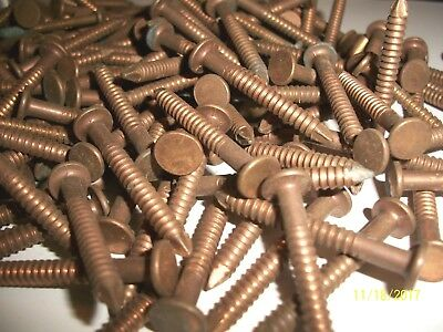 """62 - Antique, Solid Bronze 1 1/2"""" Long,  Ring Nails,  Marine-Boat-Woodworking +"""