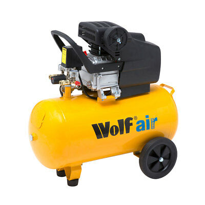Ex Demo Wolf Sioux 50 Litre 2.5HP Induction Motor 9.5CFM Air Compressor Portable