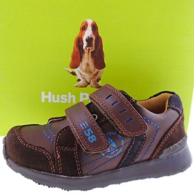 Boys Hush Puppies HKB8041001 Diego LEATHER BROWN Shoe Sizes UK 5 to UK 12 EU 30