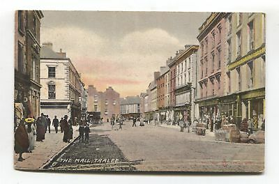 Tralee - The Mall, street, shops - early County Kerry postcard
