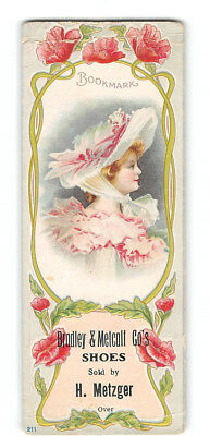 Victorian Trade Card-Bookmark-Clapsaddle-Bradley & Metcalf Co-Shoes-Milwaukee