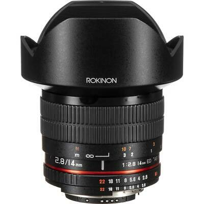 Rokinon 14mm f/2.8 IF ED MC Lens with Automatic Chip for Nikon #FE14MAF-N