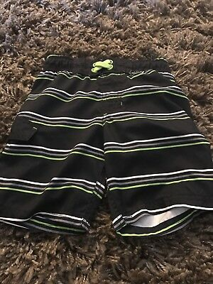 Boys Swim Shirts Size Xs Or 4/5 Black Striped By Cat And Jack