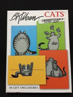 NWT B. Kliban Cat Note Cards with Envelopes Gift Enclosures Box Set of 36 FS