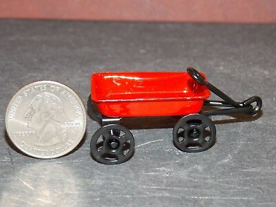 Dollhouse Miniatures 1:12 Scale Small Red Wagon #IM65385