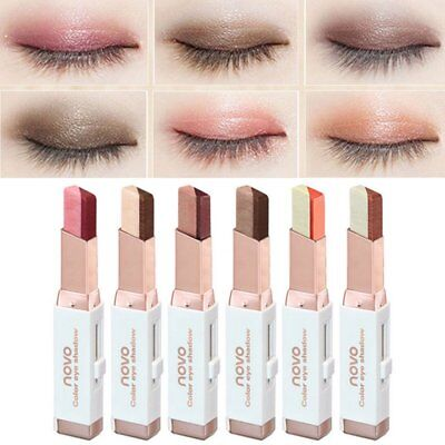 Fashion Women Korean Cosmetics Two Tone Eyeshadow Bar Pencil Pen Makeup Gift New