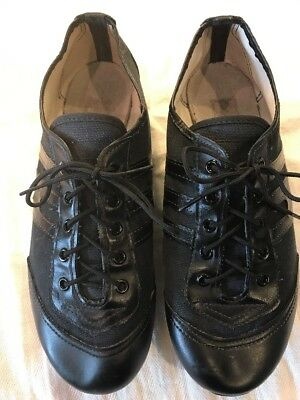 ASAHI Baton/Dance Shoes Size 23 = 6.5 USA SZ  Used Black***EUC***