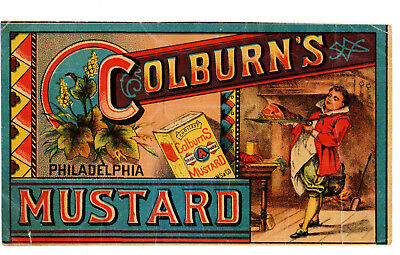 1880s COLBURN SPICE CO, PHILADELPHIA, PENNSYLVANIA COLBURN'S MUSTARD TRADE CARD