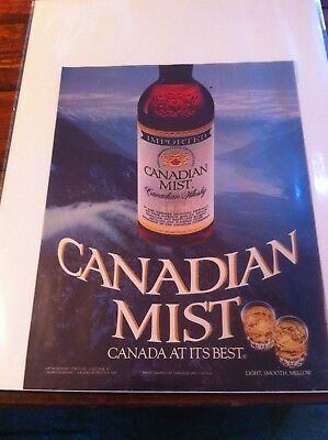 Vintage 1984 Canadian Mist Whiskey Canada At It's Best Print Art ad