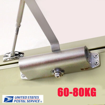 Practical 60-80KG Aluminum Commercial Door Closer Two Independent Valves Control