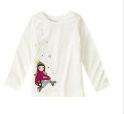 NWT Gymboree Merry and Bright Ice Skating Snowflake Top Size 4