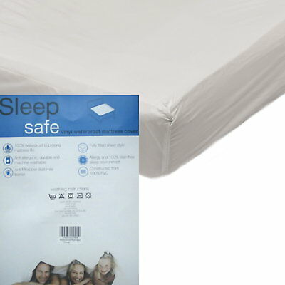 Vinyl Plastic Heavy Duty Mattress Protector Waterproof Washable Fitted Sheet