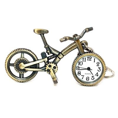 Vintage Bike Bicycle Metal Pendant Watch Key Ring Home Deco Pocket Watches