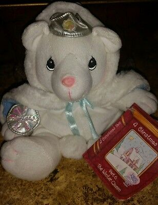 "NEW Precious Moments Plush 8"" Christmas Tale Winter Queen White Bear #S1"