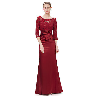 Burgundy Bridesmaid Dress Lace Formal Evening Dresses Size 4 Ever Pretty
