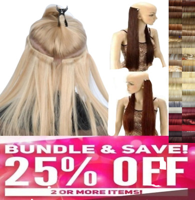 Real Thick Clip In Hair Extensions Long Curly Full Head UK Clip in Hair