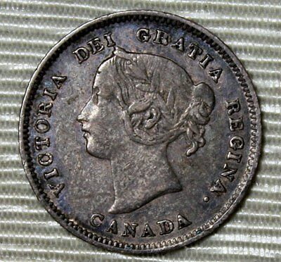 1901 Canada 5 Cents Silver * Young Victoria Head * Lovely Coin * FREE SHIPPING