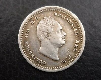 1833 Maundy Twopence : King William IV : British Sterling Silver Coin