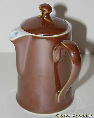 "ROYAL WORCESTER * Vintage Small Pottery Coffee Pot * Shape 2 / Size 2 * 5"" Tall"
