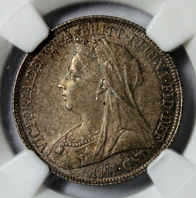 1896 Great Britain One Shilling Silver * NGC MS63 * Beautiful Coin * FREE SHIP