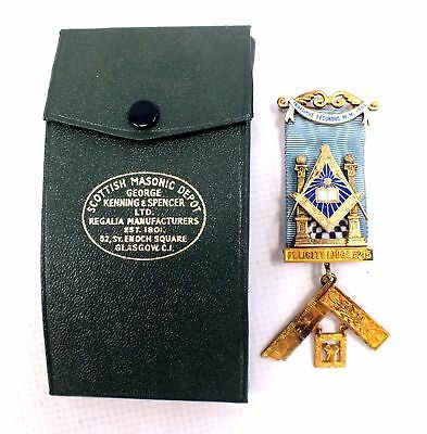 Vintage MASONIC Medal - Yellow Gold on Sterling Silver - 1949, London 47g - B25