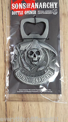 Sons Of Anarchy Samcro Reaper 3D Magnetic Metal Bottle Opener 2 FREE Stickers