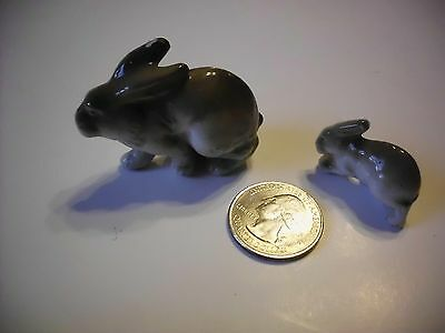 Vintage Mid Century Porcelain Rabbits Made In Germany Lot Of 2